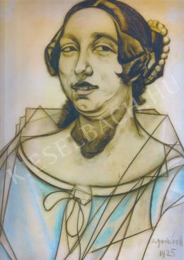 Scheiber Hugó - Mosolygó nő arcképe (1925)