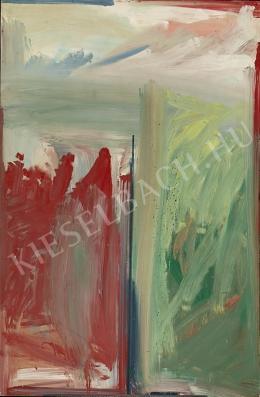 Tót Endre - Piros és zöld kompozíció (1960-as évek)
