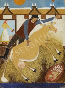Szalmás Béla - Férfi tehénnel (1938)