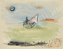Ámos Imre - Vitorláshajó (1944)