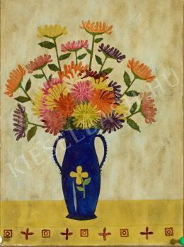 Süli András - Virágcsendélet sormintával (1934)