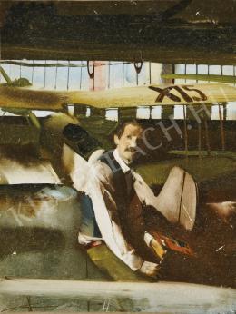 Csernus Tibor - Önarckép repülőgéppel (1978)