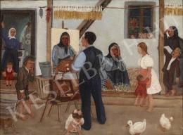 Győri Elek - Festő és falusi modelljei (1937)