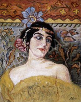 Körösfői Kriesch Aladár - Fejdíszes hölgy