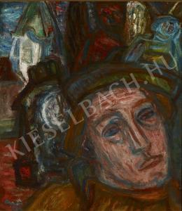 Ámos Imre - Önarckép órával (1934)