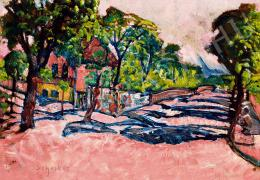 Scheiber, Hugó - Expressionistic Landscape (Shadowy Street) (c. 1920)