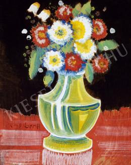 Scheiber, Hugó - Still life with flower (1930s)