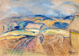 Egry, József - Early spring (Hills in Keszthely)