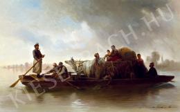 Molnár, József - Crossing the Tisza (1872)