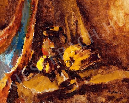 Holló László - Birsalmás csendélet festménye