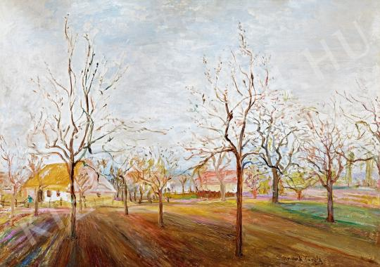 Kernstok, Károly - Early spring in the garden painting