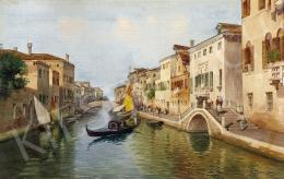 E. Benvenuti jelzéssel, 1900 körül - Velencei gondolázás