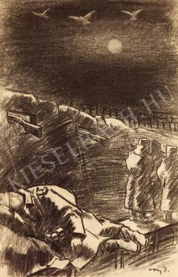 Vaszary János - Lövészárok (1916 körül)