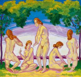Unknown painter - Nudes in nature (Primavera) (1910s)