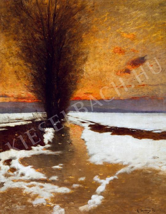K. Spányi Béla - Téli nap festménye
