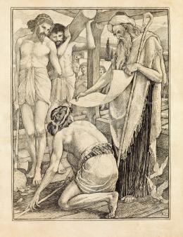 Crane, Walter - The builders of Solomon's temple (Hiram Abif) (1897)