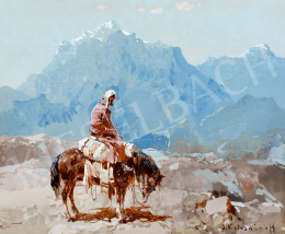 Kolesnikoff, Stefan Fedorovic - Bedouine rider in the mountains (1910s)