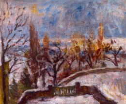 Vass, Elemér - Winter landscape (Mansion's garden)