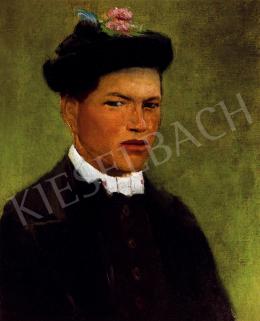 Mednyánszky, László - Boy with hat and white collar