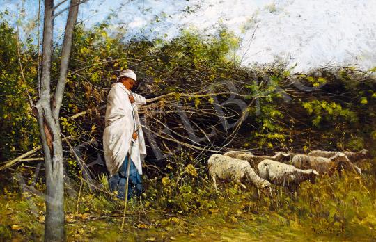 K. Spányi Béla - Pásztorlány (Őszi hangulat) | 50. őszi aukció aukció / 44 tétel