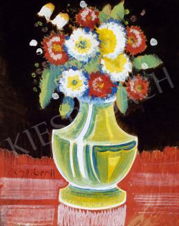 Scheiber, Hugó - Still life with flower (1930s)
