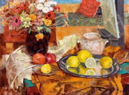 Kontuly Béla - Csendélet citromokkal