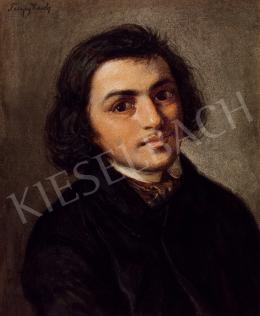 Telepy Károly - Fiatal férfi arcképe