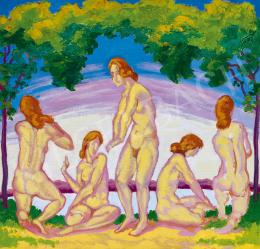 Ismeretlen festő - Aktok természetben (Primavera)