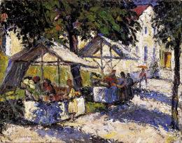 Bardócz, Lajos - On the Marketplace (1930)