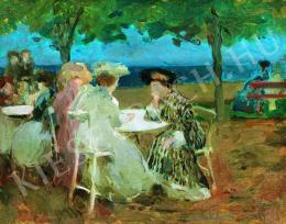 Vaszary János - Siófoki sétányon (1905 körül)