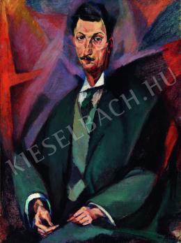 Tihanyi Lajos - Ciaclan Virgil arcképe (1914)