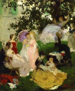 Szinyei Merse Pál - A hinta (1869)