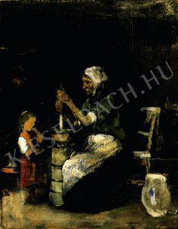 Munkácsy Mihály - Köpülő asszony (1871-72)
