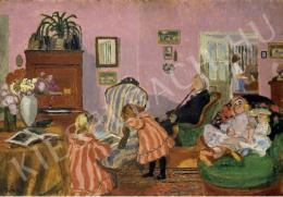 Rippl-Rónai József - Piacsek bácsi babákkal (1905)