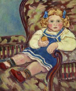 Rippl-Rónai József - A Kunffy-gyerek (1904)