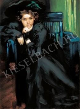 Vaszary János - Lány feketében (1906)