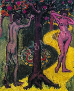 Tihanyi Lajos - Ádám és Éva (1908)