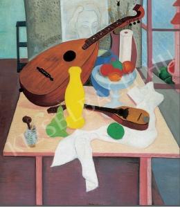 Vörös Géza - Csendélet mandolinnal (1930 körül)