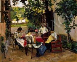 Bottlik, József - Women Embroidering (Afternoon Rest)