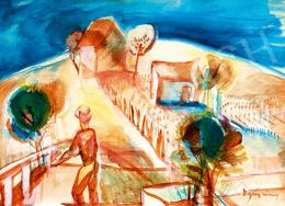 Egry József - Badacsonyi szőlőben