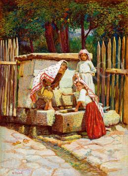 Bozzarich, Spiro - Lányok a kútnál