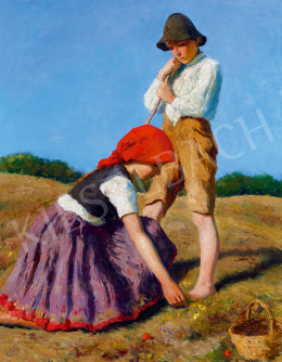 Glatz, Oszkár - Children on the Hill-Side (1935)