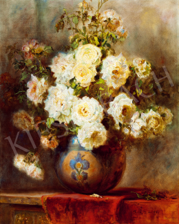 Dolányi Benczúr, Ida - Still-Life with Rose (1942)