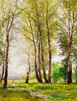 Mednyánszky, László - Path in the Forest