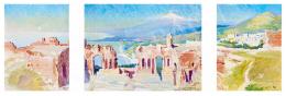 Dziemanski, Stanislaw - Színház romjai háttérben az Etnával