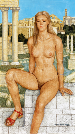 Czene, Béla jr. - Nude in Roman Background (1982)