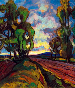 Balla, Béla - Lane with Trees (c. 1920)