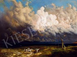 Madarász Viktor - Vihar a pusztán (Alföldi zivatar) (1860-as, 70-es évek)