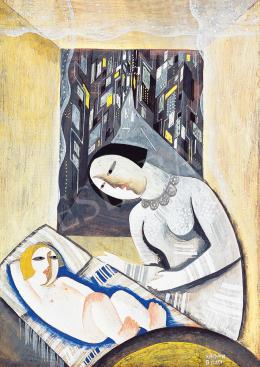 Kádár, Béla - Madonna (Mother with her Child) (1927)