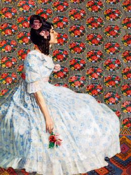 Kövér Gyula - Fiatal lány rózsával